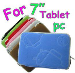 Caso protector nexus online-El caso androide de la cubierta suave del bolso de la bolsa de la manga barata con la cremallera para el nexo 7 samsung p6200 p3100 de google de la PC de la tableta de 7 pulgadas libera el envío