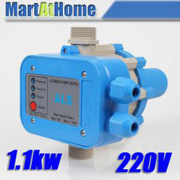 Wholesale Automatic Pressure Switch - Free Shipping NEW AC 220V WATER PUMP AUTOMATIC PRESSURE CONTROL ELECTRONIC SWITCH #BV207 @CF