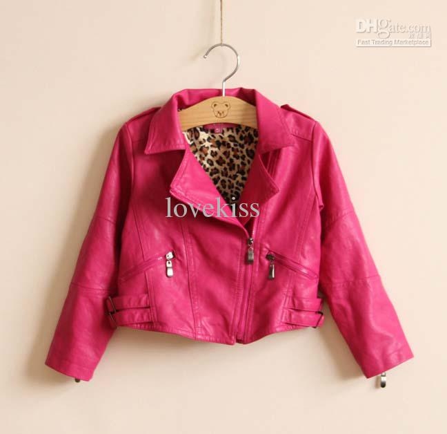 Pink Leather Jacket For Kids Jacket To