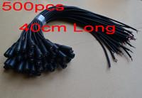 cctv elektrik hatları toptan satış-Yüksek kalite yeni 500 adet 40 CM veya 20 CM veya 100 CM uzun DC Güç Kurşun Dişi kablo pigtail CCTV kamera için güç + Ücretsiz Kargo