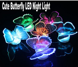 free baby packs Promo Codes - New strange Lifelike Butterfly LED Night Lights Wedding Room Decors Baby Night Light nice packing 12 color free shipping 48pcs lot