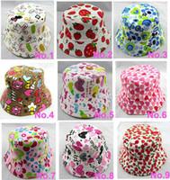bebek bebek kovası şapka toptan satış-Bebek tuval kapaklar çocuklar çiçek şapka Çocuk Kova Şapka Çocuklar Cimri Ağız Şapkalar Parti Şapka Erkek Pamuk Snapback Şapka Kızlar Kapaklar bebek kapaklar