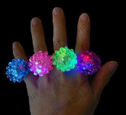 Wholesale Glow Torch - XYA62 Strawberry Glow Light Ring Torch LED Finger Ring Lights Flash Beams Light Halloween Party LED Toys Wedding