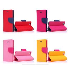 Wholesale Iphone Flip Cover Cases Cheap - colorfull Mercury wallet card slots flip leather case cover skin shell for iPhone 4 4G Mercury wallet cheap case