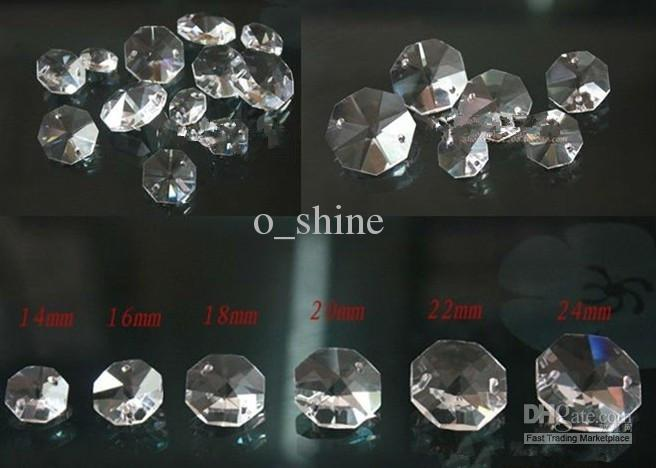 2018 Big Discount 14mm Clear Octagon Crystal Glass Beads ...