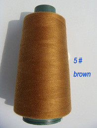 Wholesale Wholesale Sewing Machine Thread - Brown color 3000 yards 402 polyester sewing thread Tex 27 Tickets 120 Japan size 60 sewing machine thread quality home textiles
