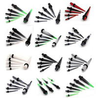 60pcs 2-8mm Gauge Acrylic Ear Plug Expander Kit Taper Tunnel Stretcher Percing [BC63 (12) * 5]