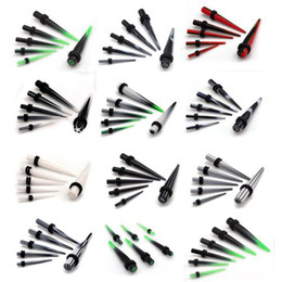Wholesale Stretcher Plug Kit - 60pcs 2-8mm Gauge Acrylic Ear Plug Expander Kit Taper Tunnel Stretcher Percing [BC63(12)*5]