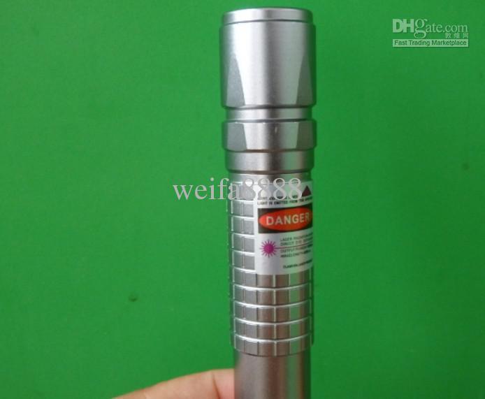 405 nm de alta potencia Verde Rojo violeta azul punteros láser / UV Púrpura láser antorcha B Lazer Linterna + cargador + caja de regalo