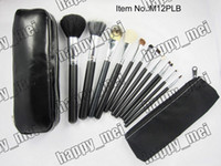 Wholesale Makeup Brushes 12 Pieces - Factory Direct DHL Free Shipping New Makeup Brushes 12 Pieces Brush Sets+Leather Pouch!!With Numbered!888