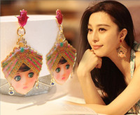 Wholesale Earring Doll - Min.order is $15 (mix order) Manous*h India Doll Girl Earrings