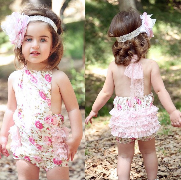 top popular HOT SALE 2013 floral baby girl one-pieces romper newborn bodysuit posh petti rompers tights baby romper jumpsuit shortall P509 2019
