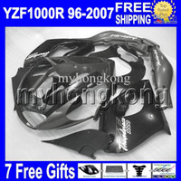 Wholesale Yzf Thunderace - 7gifts Black grey For YAMAHA YZF1000R 96-07 YZF 1000R black grey Thunderace 1996 1997 1998 1999 2000 MK689 2004 2005 2006 2007 !! Fairing