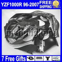 Wholesale yamaha thunderace - 7gifts Black grey For YAMAHA YZF1000R 96-07 YZF 1000R black grey Thunderace 1996 1997 1998 1999 2000 MK689 2004 2005 2006 2007 !! Fairing