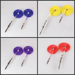 Clips Cables pC online shopping - 2 Colorful High Quality FT Long Silicone Cable Pro Silica Gel Tattoo Clip Cords For RCA Rotary Tattoo Machine Gun Power Supply