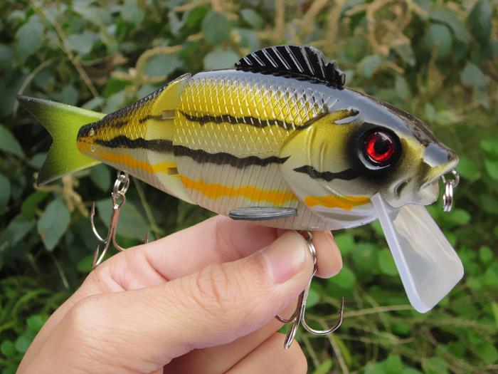 5 stks Jointed Fishing Lure Crankbaits Haken 47.8g / 14.5cm J
