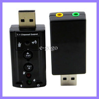 sonido usb 7.1 canal al por mayor-Adaptador de tarjeta de sonido 3D de 7.1 canales Tarjeta de sonido externa USB Adaptador de audio virtual de sonido Adaptador externo 7.1 Canal