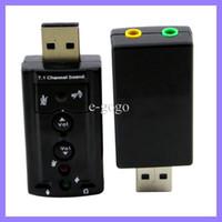 ingrosso scheda audio audio 7.1 audio 7.1-Scheda audio USB 2.0 esterna Scheda audio canale 3D 3D Scheda audio Virtual Sound External Adapter 7.1