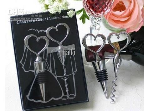 Nouvelle arrivée de mariage Favorl bouchon de bouteille de vin en forme de coeur bouchon de vin Boule de cristal / anges / papillons / neige / bague en diamant par rafi