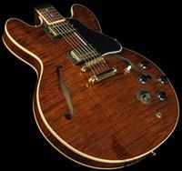 costume guitarra jazz oco venda por atacado-Custom Shop Clássico Tiger Brown Semi Oco 335 Jazz Guitarra Guitarras Por Atacado