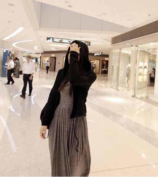 2016 Autunno Inverno vestito di moda partito maxi vestito donna abito lungo abito gonna a pieghe manica lunga vestito piegato maxi gonne vestito grigio