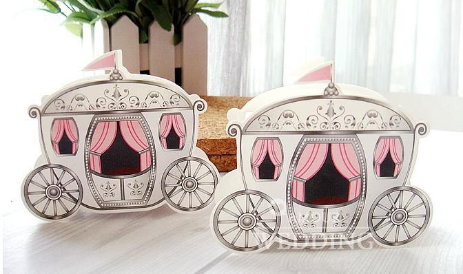 Carriage Favor Box Gift Paper Bags Favour Wedding Box Pumpkin