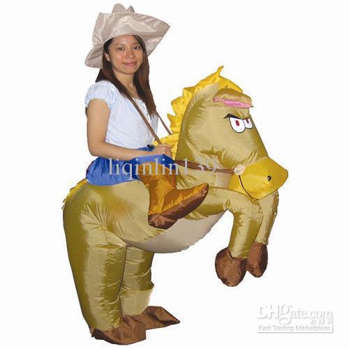 Horse Inflatable Costume Adult Fancy Dress Suit Party ...