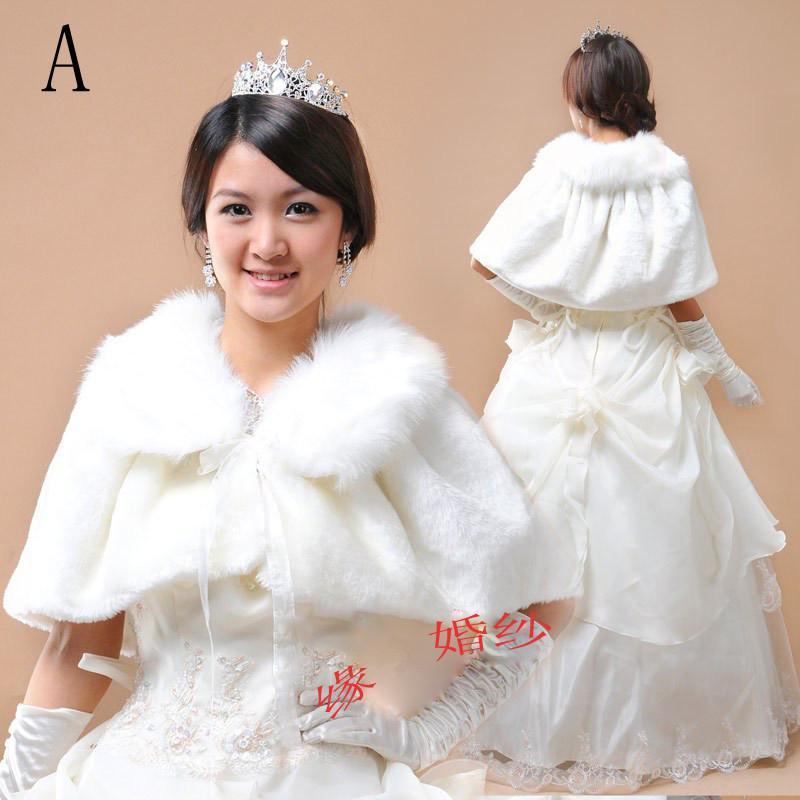 Wedding Gown Wraps: 2019 New Ivory Faux Fur Wrap Shrug Bolero Coat Bridal