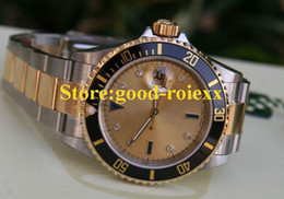 Wholesale Perpetual Luxury - LUXURY MENS AUTOMATIC 2 TONE 18K GOLD WATCH DATE MOP SERTI PERPETUAL DIVE SPORT WATCHES