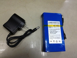 Wholesale battery cctv - 12V Rechargeable Li-on Battery 9800mAH Portable 4 CCTV Long time working H351