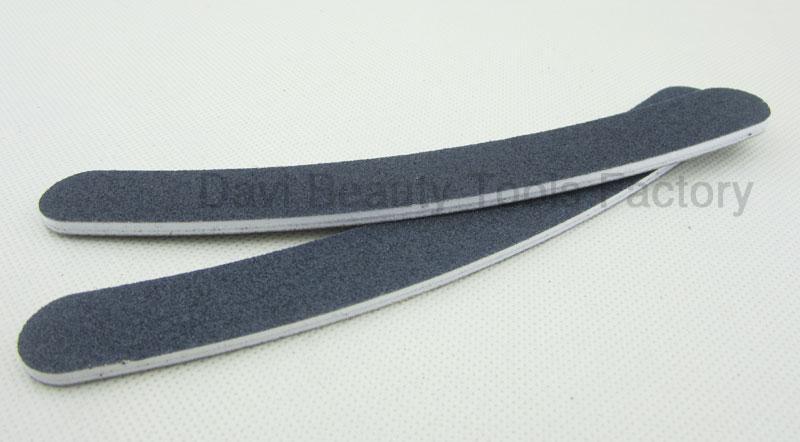 50 unids / lote herramientas de uñas 80/80 esmeril de lijado archivo profesional lima de uñas 100/180 negro buffer buffing curva delgada