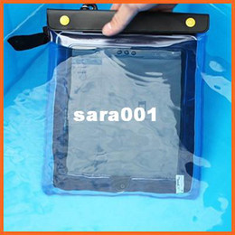 Wholesale Beach Tablet - Free shipping Tablet PC Waterproof Bag Swimming Pool Beach Diving Case Bag Pouch 30*21cm Drift diving 20 meters depth waterproof