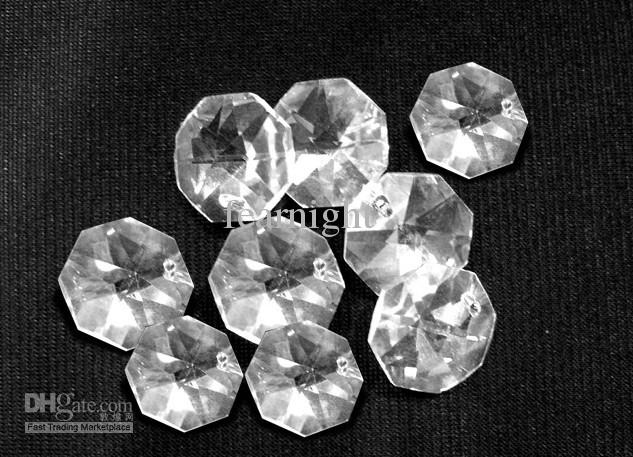 2018 Clear Crystal Octagon Beads 14x14mm Two Holes/Crystal ...
