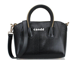 Discount hard handbags - free shipping Lady's Snake Pattern totes High-quality leather cow leather bag shoulder bags fashion  handbags JSL18