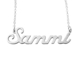 Wholesale Letter Word Pendant Necklace - Alloy Personalized Name or Any Word Necklace - Carrie Style Name Necklace, Gift for Love, Couple,BFF