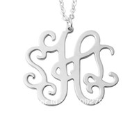 Wholesale Name Initial Letter Pendant - Custom alloy monogram name necklace alloy pendent,customized necklace,best gifts for you and your BFF