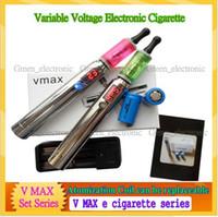 Wholesale Electronic Cigarette V Max Set - Newest e cigarette v max ariable voltage electronic cigarette Vmax excellent ecigs with Vivi Nova Aotomizer ego tank liquid vapor Smoke