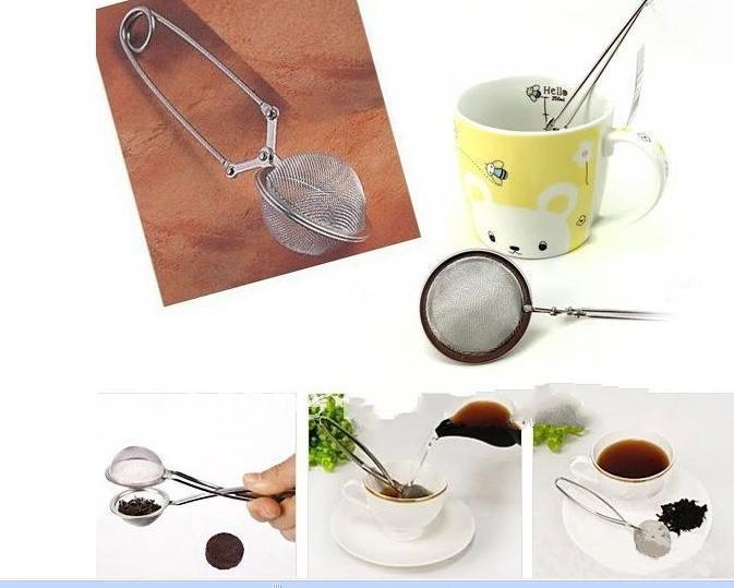 4.5 cm Infusor de té Esfera de acero inoxidable Malla Colador de té Manija Bola Té Café Herramientas Accesorios de cocina