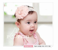 Wholesale Toddler Vintage Hair Accessories - 10PCS Newborn Toddler Baby Girls Vintage Style Lace Flower Headband Children Elastic Hair Band Headwear Kids Hair Accessories 3Colors