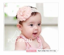 Wholesale Vintage Lace Headbands Newborn - 10PCS Newborn Toddler Baby Girls Vintage Style Lace Flower Headband Children Elastic Hair Band Headwear Kids Hair Accessories 3Colors