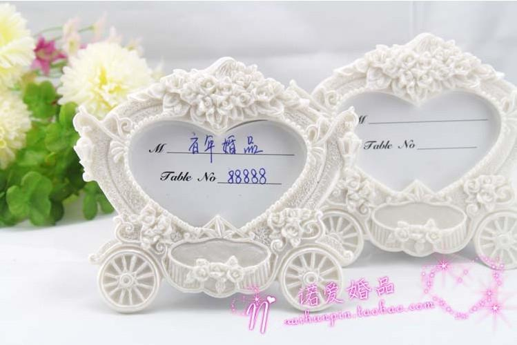 Wedding Favors And Gifts For Guest Innovative White Carriage Place Card Holder Can Be Photo Frame 200pcs Lot