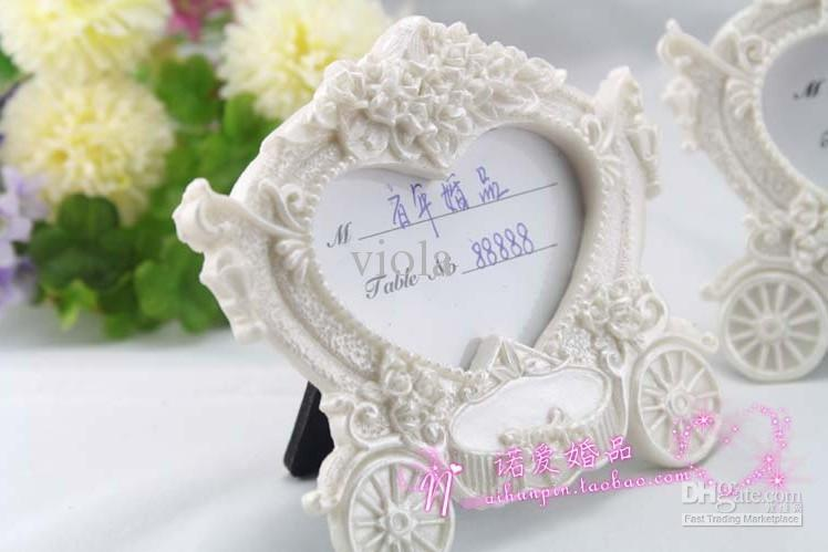 Wedding Favors And Gifts Iwhite Resin Placecard Holder Picture