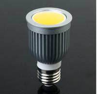 Wholesale 12v Mr16 Bulb Lumen - Factory Wholesale- 100pcs High Power High Lumen Dimmable GU10 E27 MR16 10W COB Led Bulb Light Lamp Warm White Led Spot Down Lamp