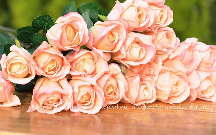 lunghezza 50CM Rosa di simulazione fiore artificiale fiore di seta Rosa singola Fiore giardino di casa decorazione cerimonia nuziale di trasporto