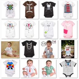 Wholesale Baby Tuxedo Rompers Overalls - 2013 new arrival newborn bodysuit tuxedo baby boy one-pieces romper short sleeve rompers jumpsuit cotton shortalls baby overall D11