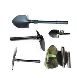 Wholesale folding shovel steel - Retail Hot Sale Mini Multi-function Folding Shovel Survival Trowel Dibble Pick Camping Outdoor Tool