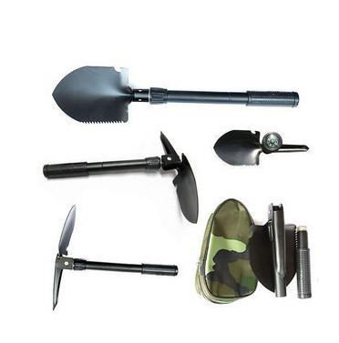 Vente au détail Mini pelle pliante multi-fonction survie truelle dibble pick camping en plein air outil