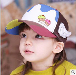 Wholesale Baby cap hats New fashion baby Ice cream Embroidery hat cap hat baseball cap hat baby summer sun hat cheap cap hat
