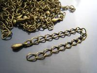 Wholesale Chain Extender Antique - DIY 200pcs Antique Bronze Adjustable Chain Closure Extender Finding