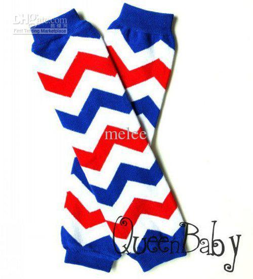 Baby Chevron Been Warmer Baby Beenwarmers Zuigeling Kleurrijke Been Warmer Kind Sokken Legging Panty Been Warming 15 Paren / partij, Accepteer Kleur Kies